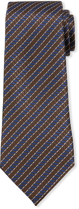 Ermenegildo Zegna Men's Ribbed Diagonal Stripe Silk Tie