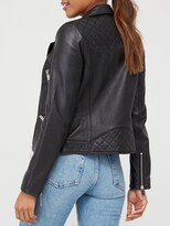 Very Ultimate Leather Biker Jacket - Black