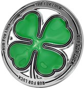 Buckle Rage Adult Mens Rub For Luck Shamrock 4 Leaf Clover Belt Buckle Green
