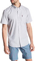 Ben Sherman Short Sleeve Pinstripe Trim Fit Shirt