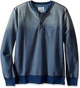 Lucky Brand Men's Indigo Henley Sweatshirt