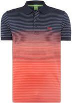 Hugo Boss Paddy 3 Regular Fit Fine Stripe Polo Shirt