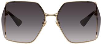 Gucci Gold Round Sunglasses