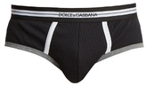 Dolce & Gabbana Ribbed-jersey Cotton Briefs