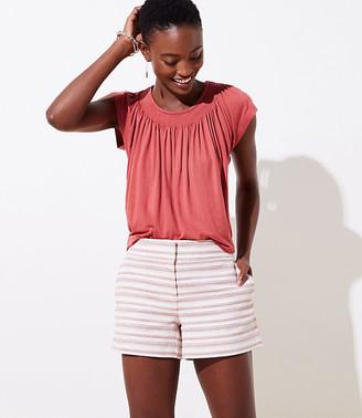 LOFT Textured Stripe Shorts