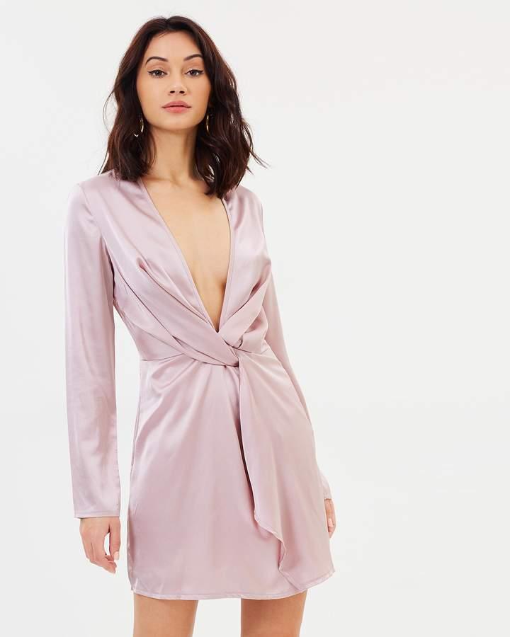 Missguided Twist Long Sleeve Shift Dress