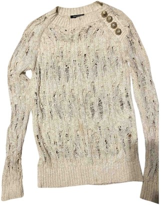 Balmain White Wool Knitwear for Women