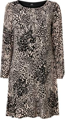 Wallis Stone Animal Print Swing Dress