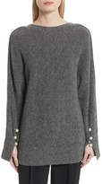 3.1 Phillip Lim Women's V-Back Sweater With Faux Pearl Cuffs