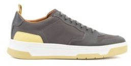 HUGO BOSS Low Top Sneakers With Coordinating Heel And Sole - Light Brown