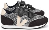 Veja Leather and Fabric Velcro Arcade Trainers