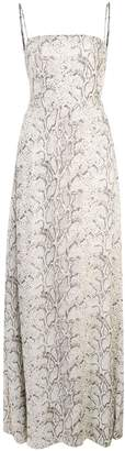 Reformation Ingrid snakeskin print dress