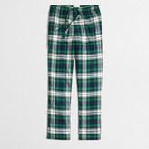 J.Crew Factory Plaid flannel pajama pant