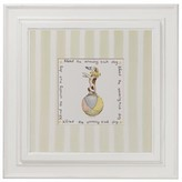 The Well Appointed House Pastel Circus Theme Framed Wall Art: Alfred the Amazing Balancing Dog