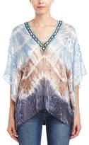 Hale Bob Silk-Blend Flutter Sleeve Tunic