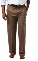 Haggar Work to Weekend Original Khakis - Original Fit, Flat Front, Hidden Expandable Waistband