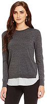 Daniel Cremieux Allen Layered Ribbed Cuff Sweater