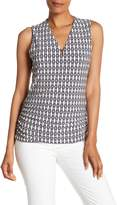 Anne Klein Print Sleeveless Blouse