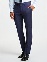 J. Lindeberg Fancy Wool Semi Plain Slim Fit Suit Trousers, Blue