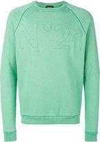 No.21 embossed logo sweatshirt