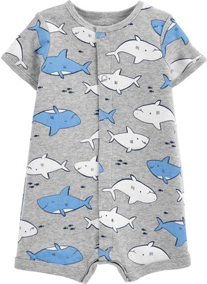Carter's Baby Boy Shark Snap-Up Romper