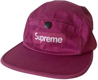 Supreme Purple Cloth Hats