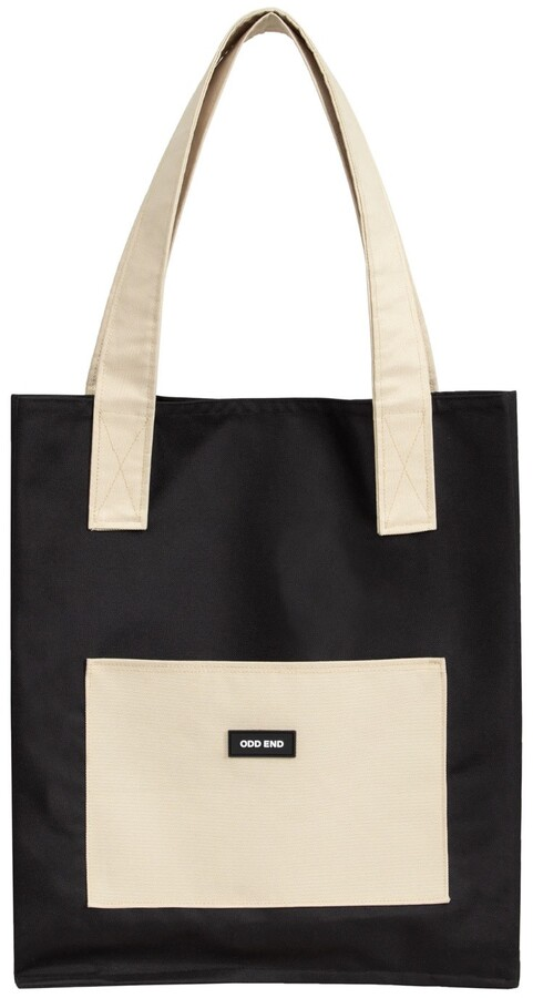 Thumbnail for your product : ODD END Studio - Tall Upcycled Tote Bag - Men's- Black & Beige