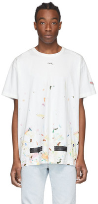 Off-White SSENSE Exclusive White Galaxy Brush T-Shirt