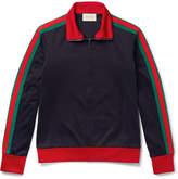 Gucci Embroidered Jersey Zip-Through Sweatshirt
