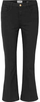 Frame Le Crop Mini Boot Mid-rise Jeans - Black