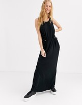 Dr. Denim viscose dress with elastic waist detail