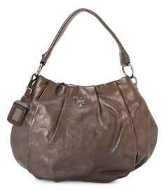 Prada Vintage Leather Hobo Shoulder Bag