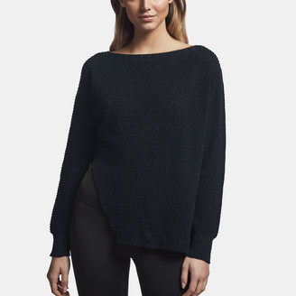 James Perse Cotton Linen Boat Neck Sweater