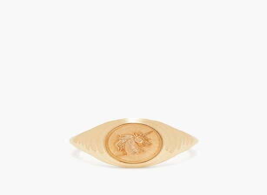 Retrouvai - Unicorn Gold Signet Ring - Womens - Gold