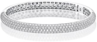 Memoire 18k White Gold Diamond Pave Bangle, 5.47tcw