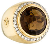 David Yurman 18K Smoky Quartz & Diamond Cerise Ring