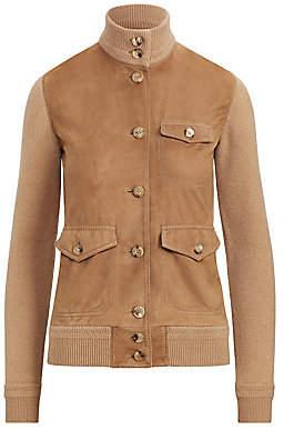 Ralph Lauren Women's Suede Front Cashmere Jacket