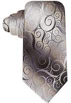 John Ashford Mens Swirl Satin Pattern Neck Tie O/S