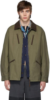 Junya Watanabe Khaki Gabardine Corduroy Jacket