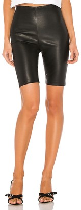 GRLFRND Carter Leather Bicycle Shorts