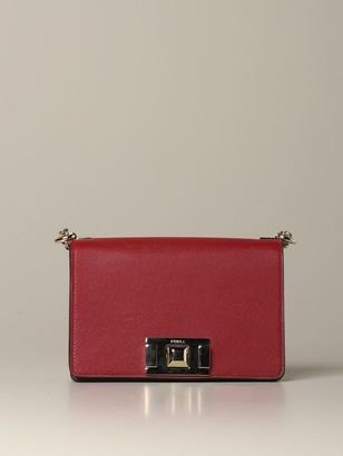 Furla Mini Bag Mimì Shoulder Bag In Textured Leather