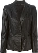 Sylvie Schimmel leather blazer - women - Lamb Skin/Polyester/Acetate - 40