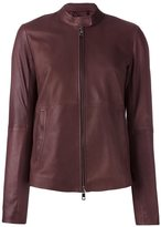 Desa Collection - zip up cropped jacket - women - Leather/Acetate/Viscose - 36