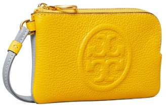 Tory Burch Perry Bombe Color-Block Top-Zip Card Case