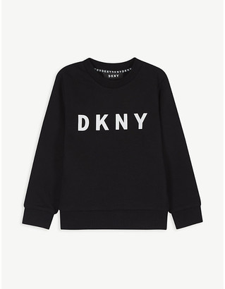 DKNY Logo cotton sweatshirt 4-12 years