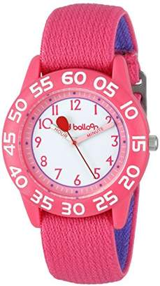 "EWatchFactory Red Balloon Kids' W001895 ""Time Teacher"" Plastic Watch with Adjustable Nylon Strap"