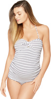 A Pea in the Pod Knot Front Maternity Tankini Swimsuit
