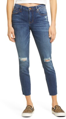 STS Blue Emma Distressed Raw Hem Crop Skinny Jeans
