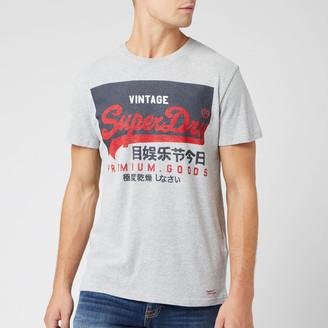 Superdry Men's Vintage Logo T-Shirt - Grey Marl - XS