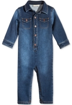 First Impressions Denim Flight-Suit Coverall, Baby Boys (0-24 months), Created for Macy's
